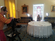 Interview of Andrea Rawlins-Gaston by SVT at the Residence of France